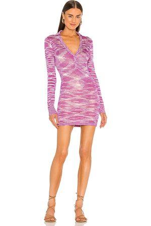 Alexis Bara Dress in Purple.