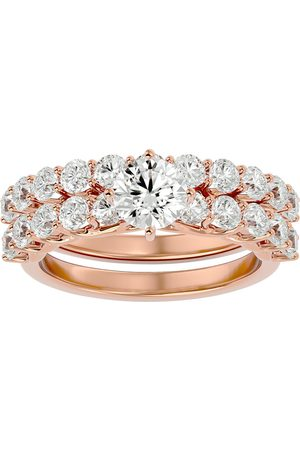 SuperJeweler Women Rings - 2.5 Carat Round Shape Diamond Bridal Ring Set in 14K (5.6 g) (