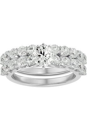 SuperJeweler 2.5 Carat Round Shape Diamond Bridal Ring Set in 14K (5.6 g) (