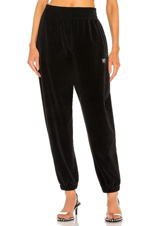 Alexander Wang Sweatpant with Crystal Logo in .