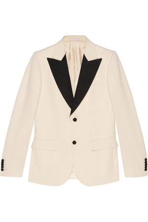 Gucci Men Blazers - Single-breasted tuxedo jacket