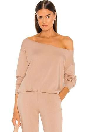 L'Agence Kimora Off The Shoulder Top in Taupe.