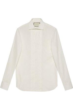 Gucci Men Shirts - Pintuck-detail tailored shirt