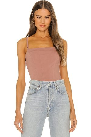 Free People Back On Track Cami in Mauve.