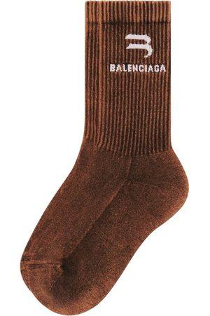 Balenciaga Intarsia-knit logo socks