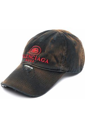 Balenciaga Logo-embroidered distressed cap