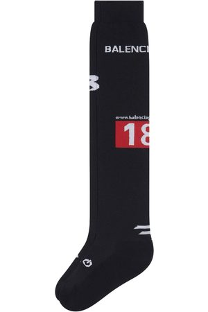 Balenciaga Men Socks - Intarsia-knit logo socks
