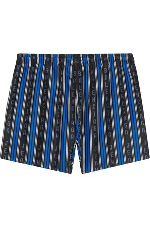 Balenciaga Logo striped swim shorts