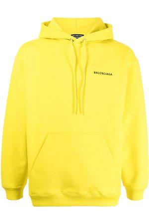 Balenciaga Men Hoodies - Logo-print cotton hoodie