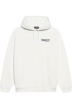 Balenciaga Logo-print long-sleeve hoodie