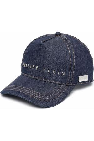 Philipp Plein Caps - Logo-plaque denim baseball cap