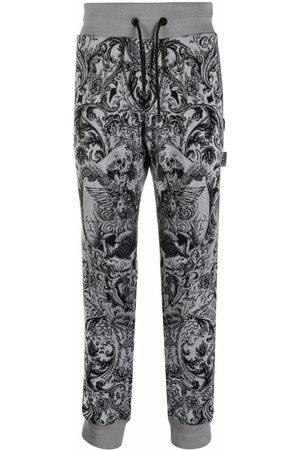 Philipp Plein Men Sweatpants - New baroque-print knitted track pants - Grey
