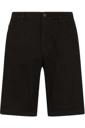 Dolce & Gabbana Men Shorts - Knee-length denim shorts
