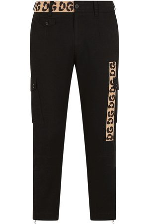 Dolce & Gabbana Contrast-panel slim-fit trousers