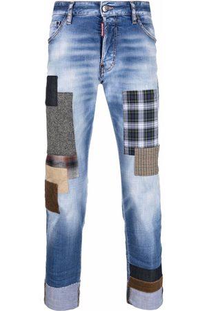 Dsquared2 Men Slim - Patchwork-detail slim-fit jeans