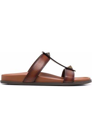VALENTINO GARAVANI Stud-embellished leather sandals