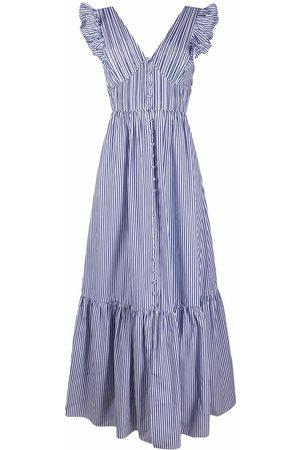 Self-Portrait Striped ruffle dress