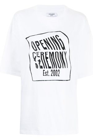 Opening Ceremony Warped logo-print short-sleeve T-shirt