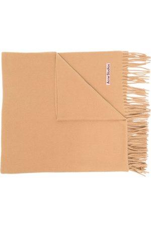 Acne Studios Scarves - Tassel-detail woollen scarf - Neutrals