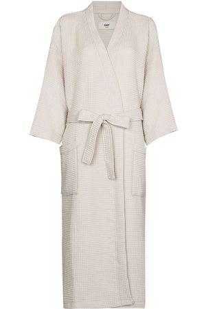 HAY Waffle long bathrobe - Neutrals