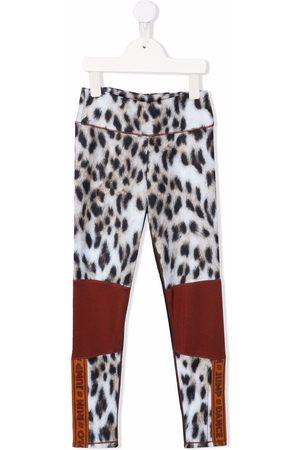 Molo Leopard-print contrast leggings