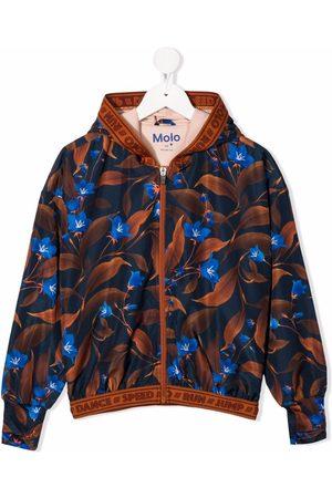 Molo Kids Floral-print zip-up bomber jacket
