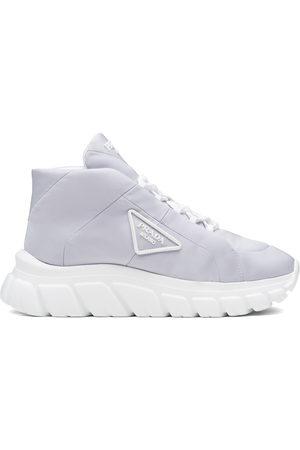 Prada Women Platform Sneakers - Lace-up platform sneakers