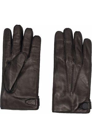 Billionaire Tonal-stitching leather gloves