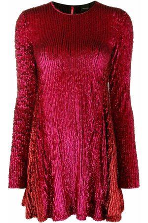 Pinko Sequin-embellished long-sleeve minidress