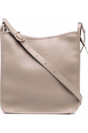 Longchamp Large Le Foulonné crossbody bag - Grey