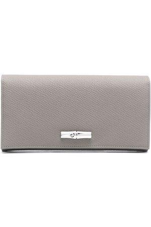Longchamp Roseau leather purse - Grey