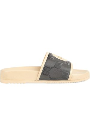 Gucci Off The Grid logo patch slides