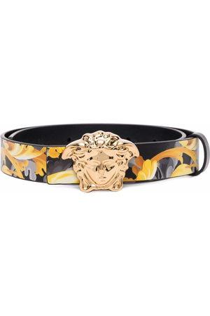 VERSACE Medusa Head Baroccoflage-print leather belt