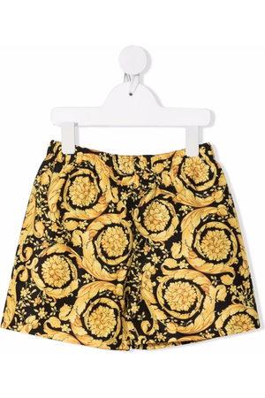 VERSACE Boys Swim Shorts - Barocco print swim trunks