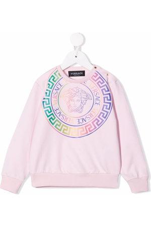 VERSACE Medusa logo-print crewneck sweatshirt
