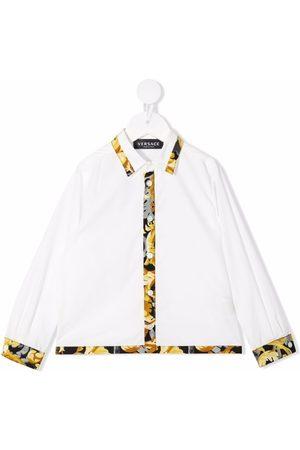 VERSACE Baroccoflage-print cotton shirt