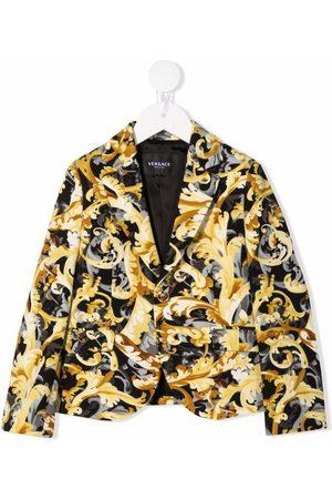 VERSACE Baroccoflage-print cotton blazer