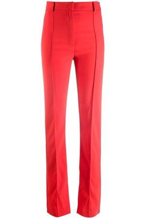 Patrizia Pepe Slim-fit slit-ankle trousers