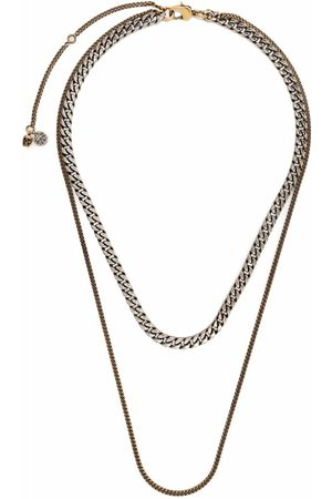 Alexander McQueen Double-chain two-tone necklace