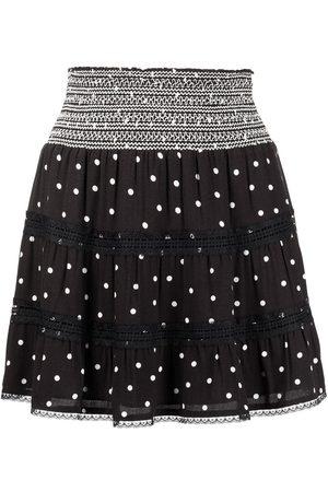 ALICE+OLIVIA Annabeth panelled mini skirt