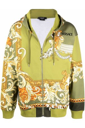 VERSACE Medusa Renaissance-print zipped hoodie