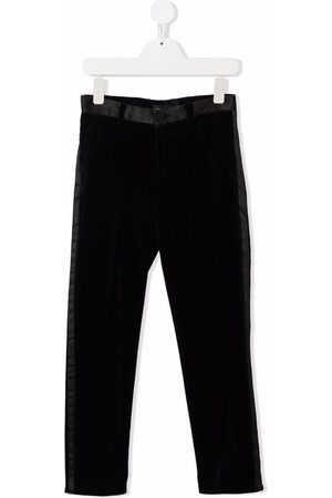 Monnalisa Contrasting-panel tailored trousers