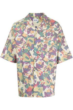 Kenzo Abstract-print shortsleeved shirt - Multicolour