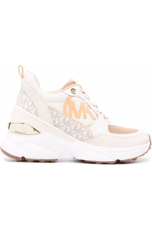 Michael Kors Mickey leather trainers - Neutrals