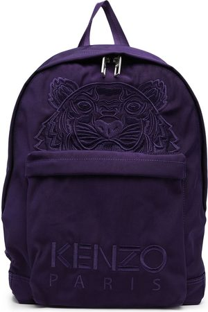 Kenzo Embroidered-Tiger cotton backpack