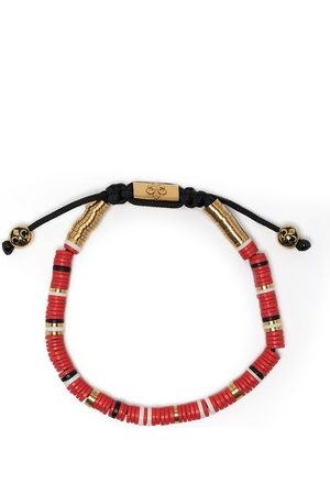 Nialaya Men Bracelets - Disc beaded bracelet - Multicolour
