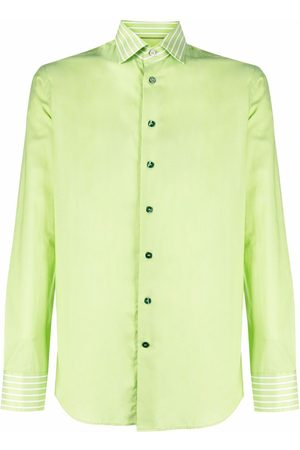 Etro Men Long sleeves - Long-sleeve cotton shirt