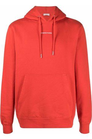 Sandro Paris Embroidered-logo cotton hoodie