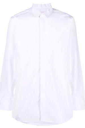 Givenchy 4G logo-embroidered tuxedo shirt
