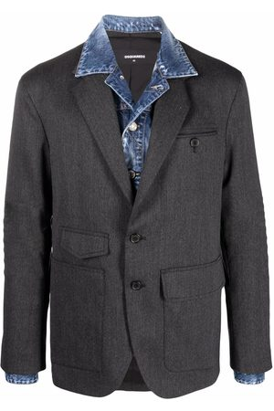 Dsquared2 Layered-effect single-breasted blazer - Grey
